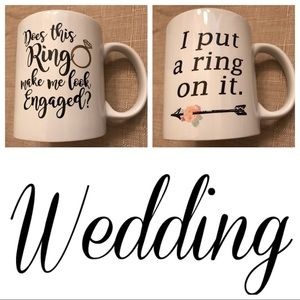 Other - Engagement coffee mugs for weddings